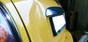 Mini Cooper - ремонт вмятины на багажнике