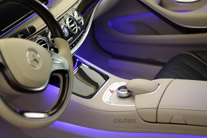 Результат премиум химчистки Mercedes S500