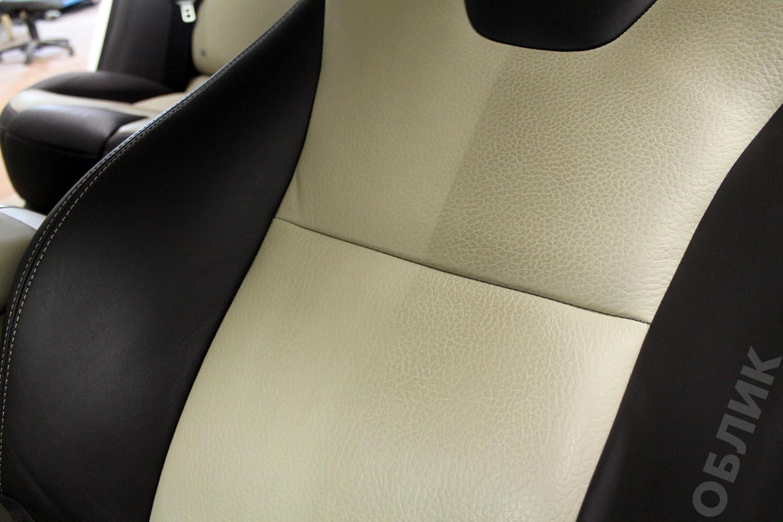 Химчистка салона авто Volvo XC60 - очищена часть элемента сиденья