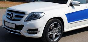 Mersedes Benz GLK - виниловый стайлинг и Ceramic PRO Light