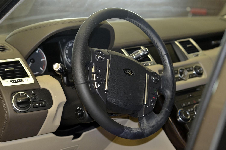 Химчистка руля на Range Rover Sport