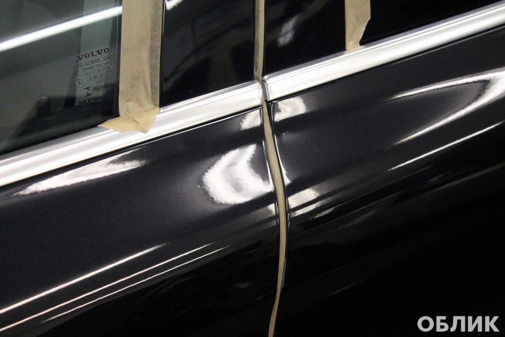 Подготовка кузова Volvo XC60 к обновлению защитного покрытия