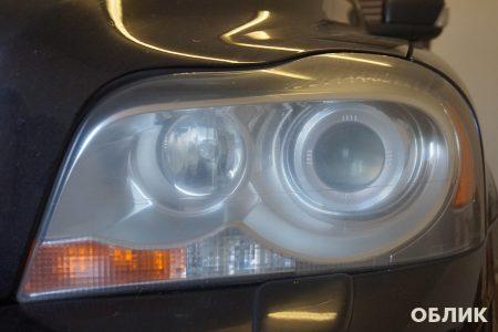 Левая фара Volvo XC90 - состояние до полировки