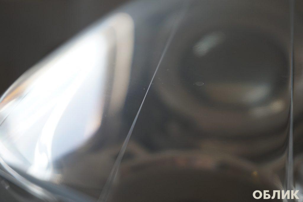 Состояние фары Volvo XC90 после полировки