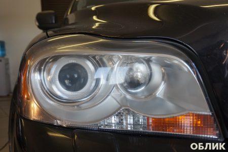 Итог работы по полировке и бронированию фар на Volvo XC90