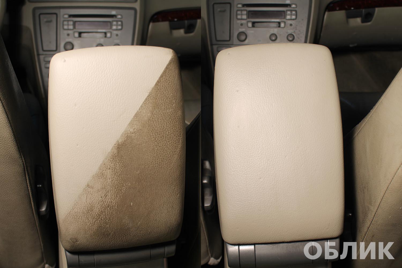 Пример химчистки элемента - подлокотника Volvo