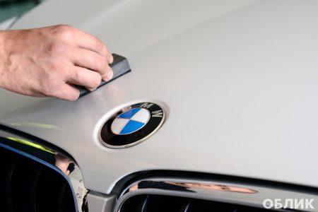 процесс работ по детейлингу BMW X5