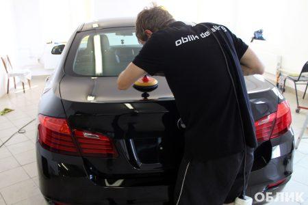 процесс полировки BMW 5 от студии Облик