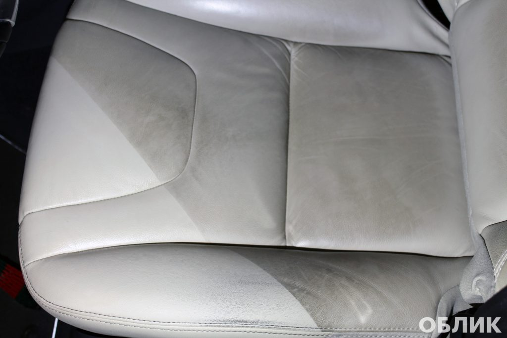 Результат очистки кожи на Volvo XC60