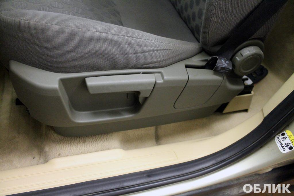 Результат исправления некачественной химчистки сидений