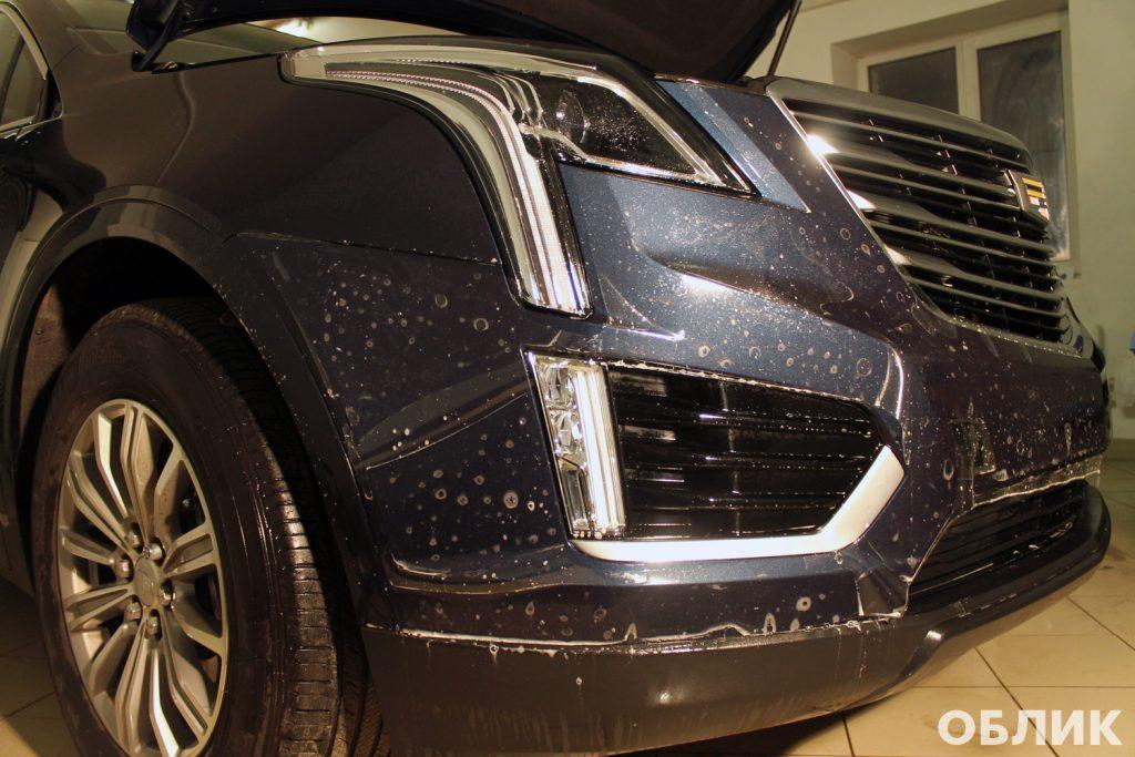 Установка антигравийной пленки на Cadillac XT5