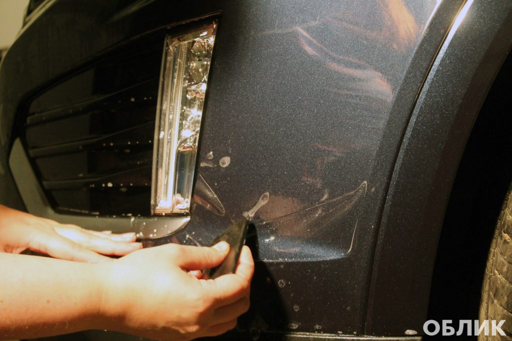 Монтаж полиуретановой пленки на Cadillac XT5
