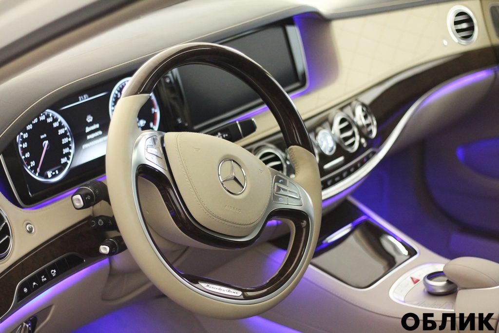 Детейлинг салона Mercedes-Benz S-class